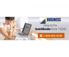 QuickBooks Error Code 15243